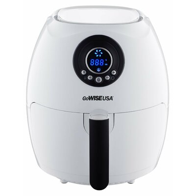 Digital Air Fryer with Recipe Book Color: White