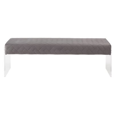 Hipple Upholstered Bench Color: Gray