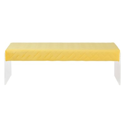 Hipple Upholstered Bench Color: Yellow