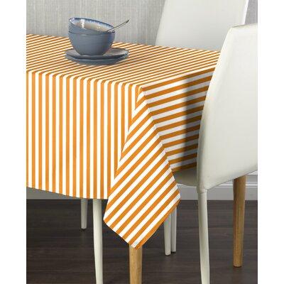 "Ermera Stripes Milliken Signature Tablecloth Size: 104"" W x 60"" L, Color: Orange"