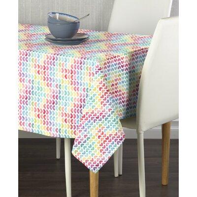 "Mccay Watercolor Hearts Tablecloth Size: 84"" W x 60"" L"