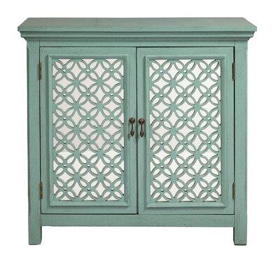 Wiesner 2 Door Accent Cabinet Color: Green