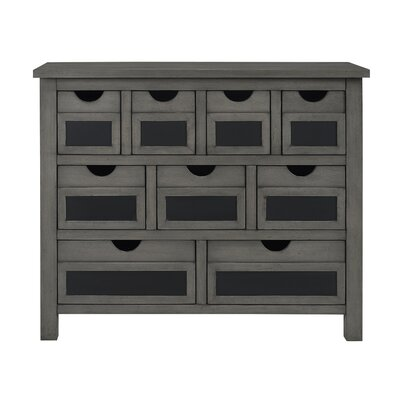 Woodyard 9 Drawer Accent Chest Color: Gray