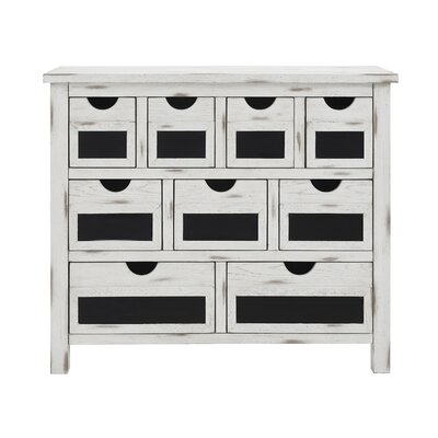 Woodyard 9 Drawer Accent Chest Color: White