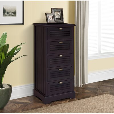 Dvorak 5 Drawer Chest Color: Espresso