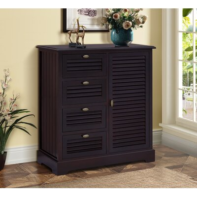 Dvorak 4 Drawer Cabinet Color: Espresso