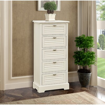 Dvorak 5 Drawer Chest Color: Beige