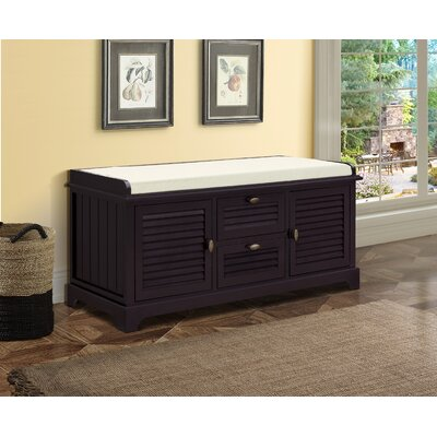 Dvorak Wood Storage Bench Color: Espresso