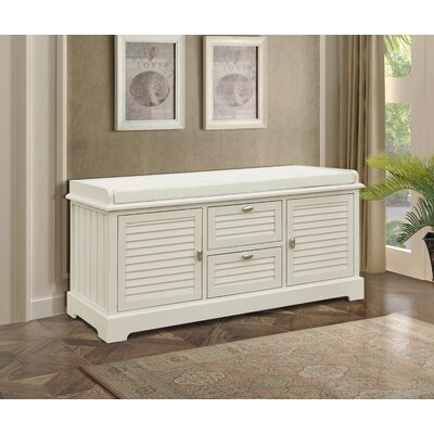 Dvorak Wood Storage Bench Color: Beige