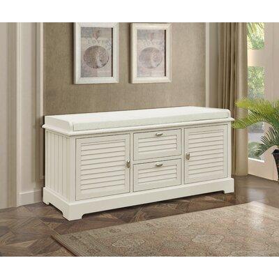 Dvorak Wood Storage Bench Color: Beige