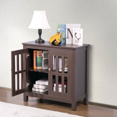 Puaina 2 Door Accent Cabinet Color: Brown