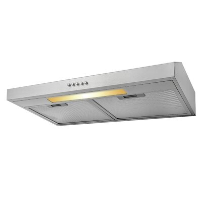 "24"" 58 CFM Convertible Under Cabinet Range Hood Finish: Brushed Steel"