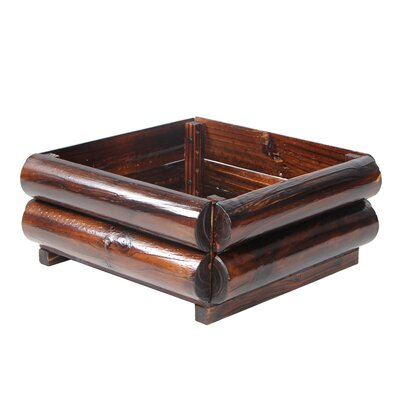 Talty Wooden Pot Planter Size: 7.87'' H x 19.29'' W x 19.29'' D