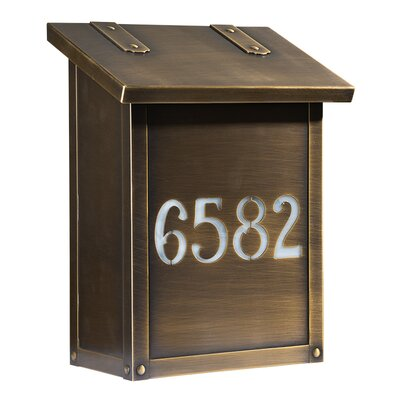 Classic Wall Mounted Mailbox Finish: Old Brass, Glass Color: Champagne