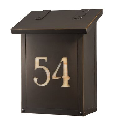 Classic Wall Mounted Mailbox Finish: Architectural Bronze, Glass Color: Champagne