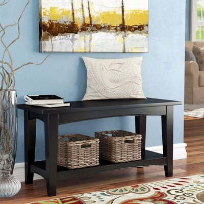 Bel Air Wood Storage Bench Color: Black