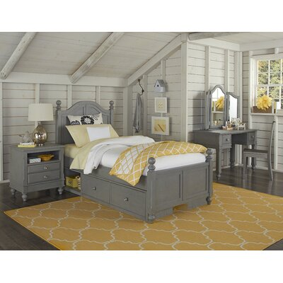 Javin Panel Bed Size: Twin, Number of Drawers: 2