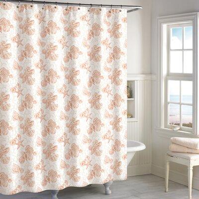 Helmick Cotton Shower Curtain Color: Coral