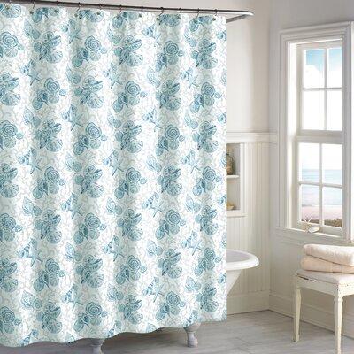 Helmick Cotton Shower Curtain Color: Blue