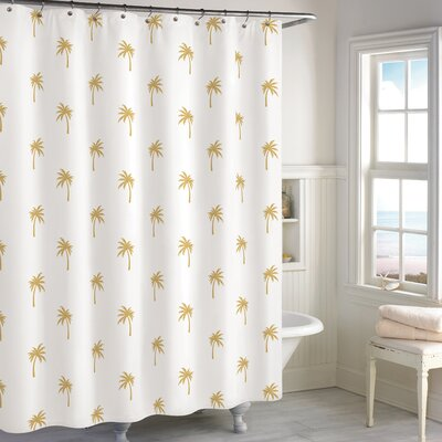 Windermer Palm Tree Cotton Shower Curtain