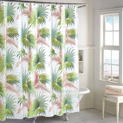 Swanwyck Beach Palm Peva Vinyl Shower Curtain