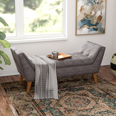 Serena Upholstered Bench Color: Grey