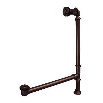 Pivoting Leg Tub Drain with Overflow Finish: Oil Rubbed Bronze