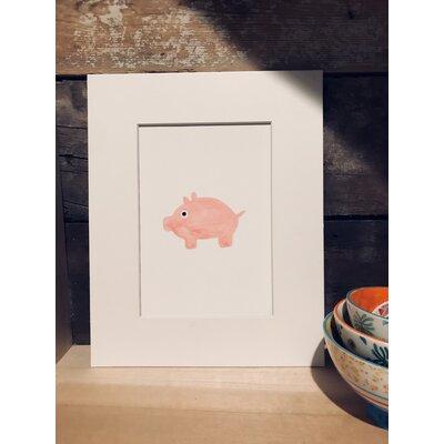 Ridgedale Watercolor Pig Framed Paper Print