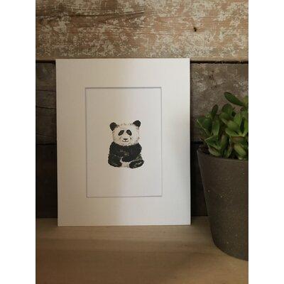 Portleven Watercolor Panda Framed Paper Print