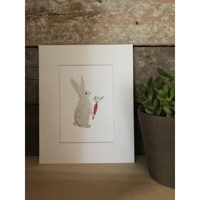 Dolan Watercolor Bunny Framed Paper Print
