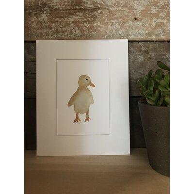 Oldbury Watercolor Duck Framed Paper Print