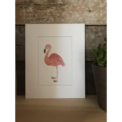 Oakmeade Watercolor Flamingo Framed Paper Print