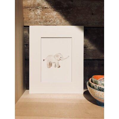 Tremont Watercolor Elephant Framed Paper Print