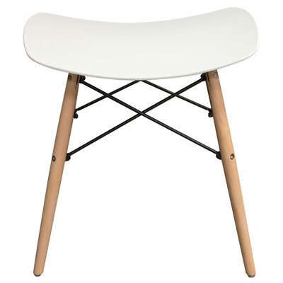 Cabrales Accent Stool Color: White