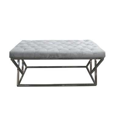 Munz Upholstered Bench Upholstery: Gray