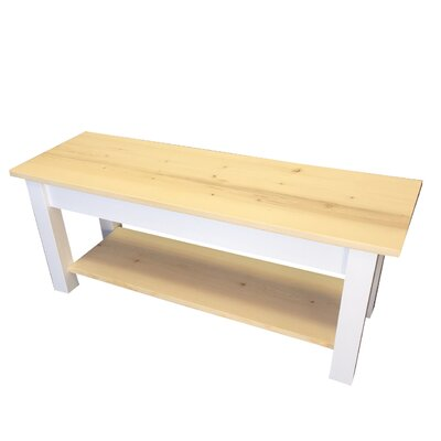 "Jarrard Wood Bench with Shelf Size: 17"" H x 24"" W x 12"" D"