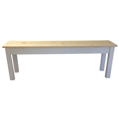 "Jarrard Wood Bench Size: 17"" H x 24"" W x 12"" D"