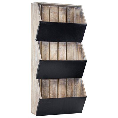 Stingley Rustic Wood/Metal Magazine Rack