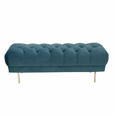 Hovey Upholstered Bench Upholstery: Light Blue