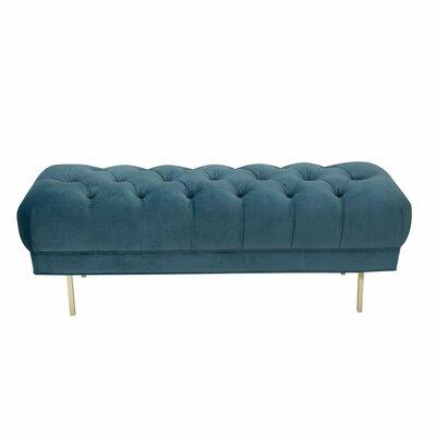 Hovey Upholstered Bench Upholstery: Light Blue