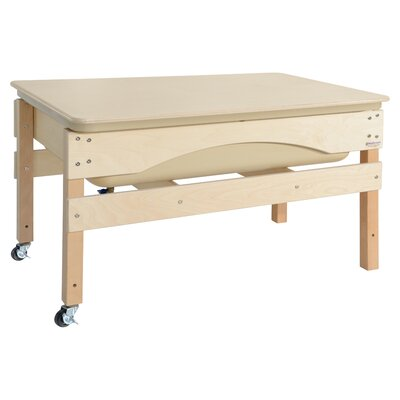 "Absolute Sand and Water Table Finish: Natural Birch, Size: 27"" H x 41"" W X 17"" D, Covery: No"
