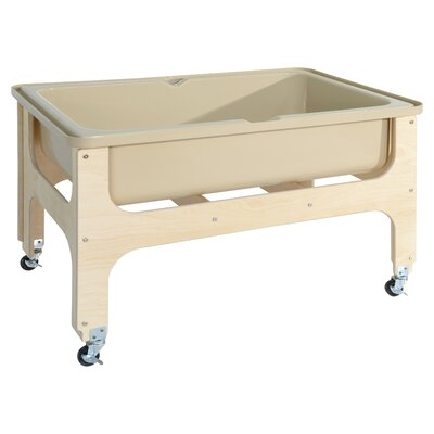 """Deluxe Sand and Water Table Size: 41"""" L x 27"""" W x 20"""" D, Covery: No"""