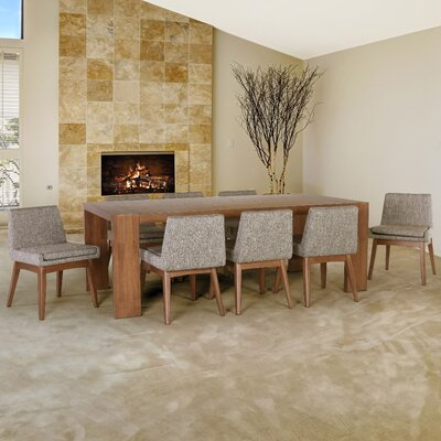 Crume 9 Piece Dining Set Chair Color: Cocoa