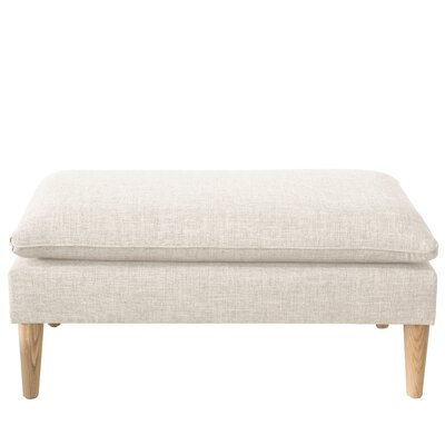Santiago Upholstered Bench Color: Zuma White