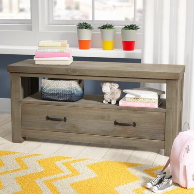 Malbon Wood Storage Bench Color: Driftwood