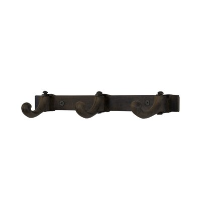 Heide Triple Cast Iron Wall Mounted Coat Rack (Set of 2)