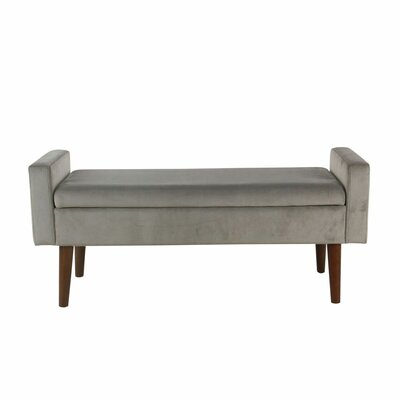 Kimbolton Upholstered Storage Bench Upholstery: Gray