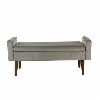 Kimbolton Upholstered Storage Bench Upholstery: Gray