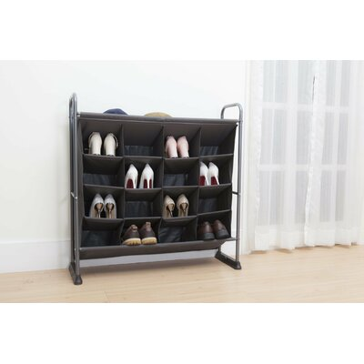 4 Tier 16 Pocket 20 Pair Shoe Rack