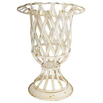 """Wesolowski Lattice Metal Urn Planter Size: 16"""" H x 12"""" W x 12"""" D"""